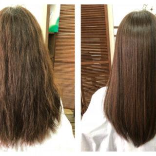 ミディアムヘアでの縮毛矯正の効果